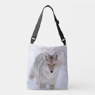 Coyote in Winter at Yellowstone Tote Bag