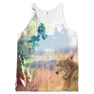 Coyote Landscapes North American Park Outdoor Dog All-Over Print Tank Top