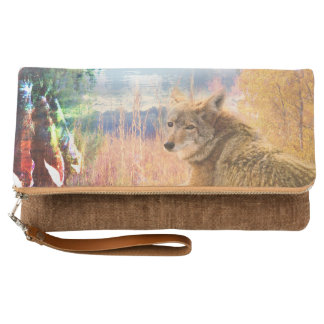 Coyote Landscapes North American Park Outdoor Dog Clutch