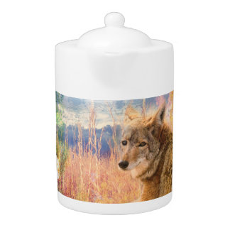 Coyote Landscapes North American Park Outdoor Dog Teapot
