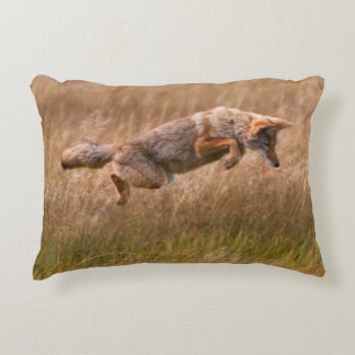 Coyote Leaping - Gibbon Meadows Accent Pillow