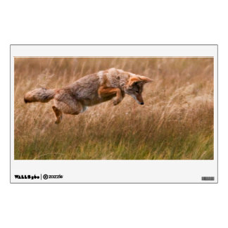 Coyote Leaping - Gibbon Meadows Wall Sticker