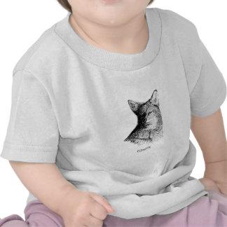 Coyote (line art) t shirts