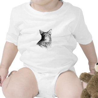Coyote (line art) baby bodysuits