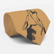 Coyote on gold tie
