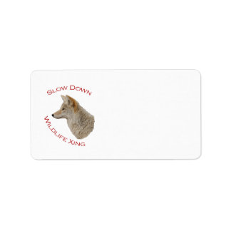 coyote personalized address label