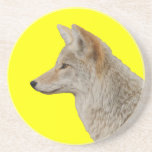 coyote profile drink coaster