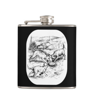 Coyote Pups Hip Flask