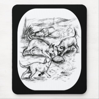 Coyote Pups Mouse Pad
