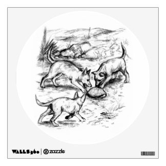 Coyote Pups Wall Decal