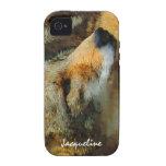 Coyote salvaje - cierre pintado del efecto encima  iPhone 4 funda