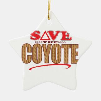 Coyote Save Ceramic Ornament