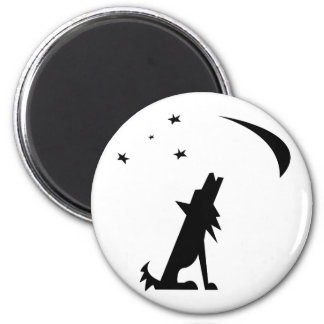 Coyote Silhouette 2 Inch Round Magnet