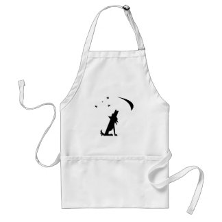 Coyote Silhouette Adult Apron
