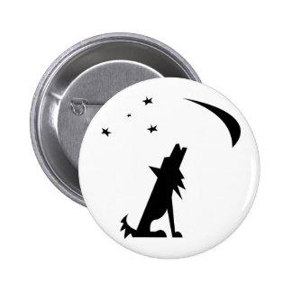 Coyote Silhouette Button