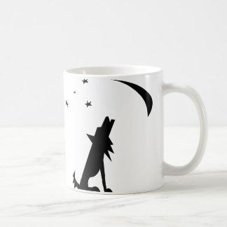 Coyote Silhouette Coffee Mugs