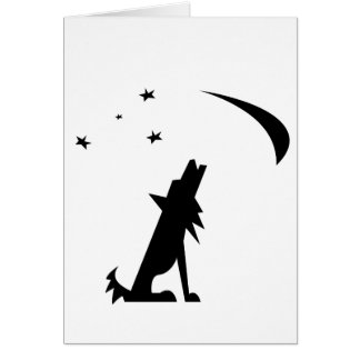 Coyote Silhouette Greeting Card