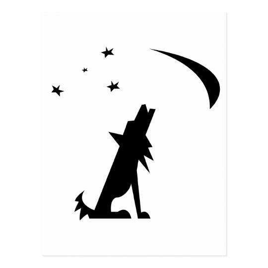 Coyote Silhouette Postcard