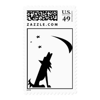 Coyote Silhouette Stamp