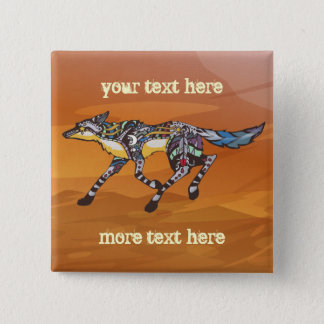Coyote the Trickster Button