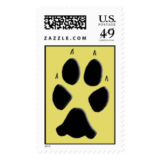 Coyote Track Pawprint Stamps