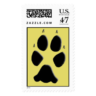 Coyote Track Pawprint Stamp