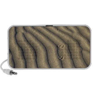 Coyote tracks in ripples of sand at Death iPod Speakers