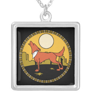 Coyote under Full Moon Necklace