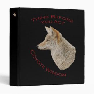 Coyote Wisdom 3 Ring Binder