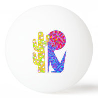 Coyote Wolf Colorful Southwestern Art Design Ping-Pong Ball