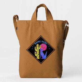 Coyote Wolf Colorful Southwestern Design Desert Duck Bag