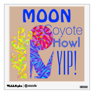 Coyote Wolf Colorful Southwestern Design Desert Wall Decal