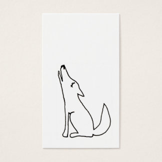 Coyote wolf dog howling - fun drawing art CUSTOM Business Card