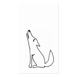 Coyote wolf dog howling - fun drawing art CUSTOM Double-Sided Standard Business Cards (Pack Of 100)