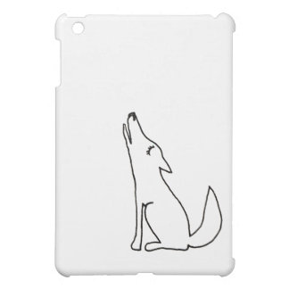 Coyote wolf dog howling - fun ink line drawing art iPad mini cases