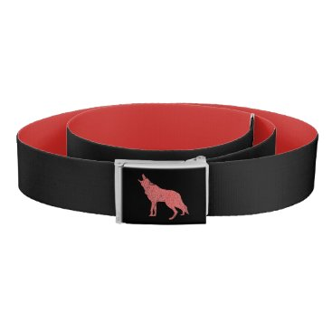 Halloween Themed Coyote wolf howl belt