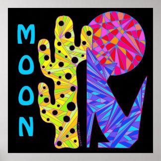 "Coyote Wolf MOON Southwest Art 24"" x 24"" Print"