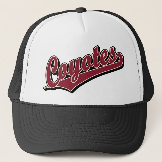 Coyotes in Maroon Trucker Hat
