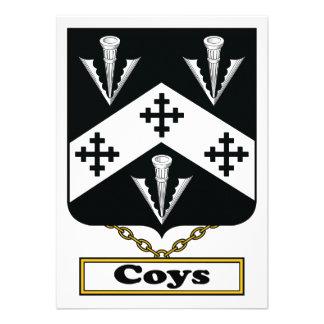 Coys Family Crest Custom Invites