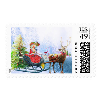 Coziness and Good Cheer Postage Stamps