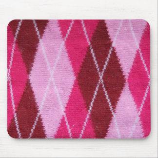 Coziness rosado de Argyle Tapetes De Raton