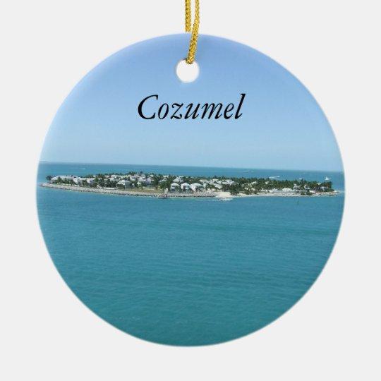 Cozumel Blue Water Tropical Ornamement Ceramic Ornament