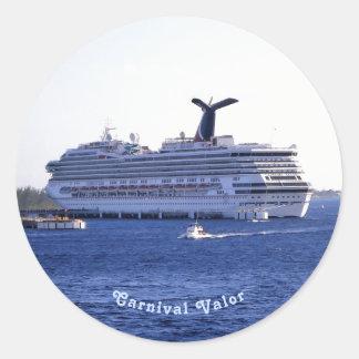 Cozumel Cruise Ship Visit Custom Classic Round Sticker
