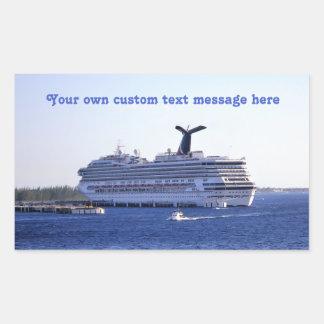 Cozumel Cruise Ship Visit Custom Rectangular Sticker