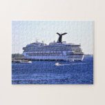 "Cozumel Cruise Ship Visitor Jigsaw Puzzle<br><div class=""desc"">Enjoy putting together a nautical puzzle,  featuring a scene from the cruise ship harbor at Cozumel,  Mexico,  where a conquest class vessel is paying one of her regular visits to the popular port of call.</div>"