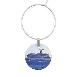 Cozumel Cruise Ship Visitor Wine Glass Charm