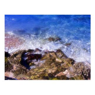 Cozumel Dock Rocks Postcard