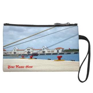 Cozumel Dockside Personalized Suede Wristlet