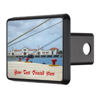 Cozumel Dockside Personalized Tow Hitch Cover