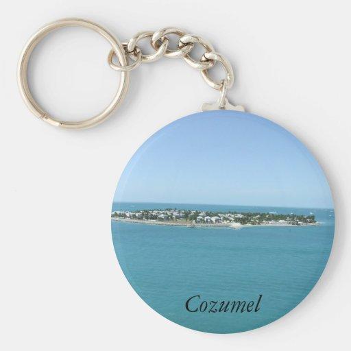 Cozumel Island Blue Water Tropical Keychains